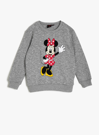 Koton Kids Minnie By Koton Lisanslı Sweatshirt Gri